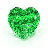 Heart shape emerald Royalty Free Stock Photography
