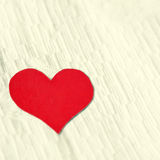 Heart Shape on the Fabric Background Royalty Free Stock Photo