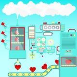 Heart shape factory Royalty Free Stock Photo