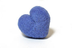 Heart shape from felting wool Royalty Free Stock Photography
