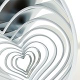 Heart shape figure abstract background Stock Image