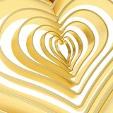 Heart shape figure abstract background. Golden heart shape figure abstract background composition Stock Photography