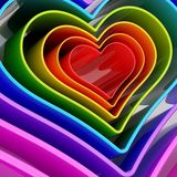 Heart shape figure abstract background. Rainbow colored heart shape figure abstract background composition Royalty Free Stock Photos
