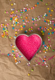 Heart Shape Filled with Candy Royalty Free Stock Photo