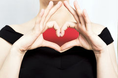 Heart shape. Fingers forming a heart shape Royalty Free Stock Photo