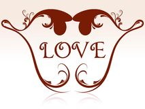 Heart shape with floral Royalty Free Stock Images