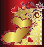 Heart shape and floral Stock Photo