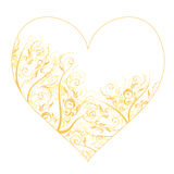 Heart shape, floral ornament for your design Royalty Free Stock Photography