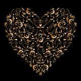 Heart shape, floral ornament for your design. Illustration stock illustration