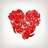 Heart shape, floral ornament for your design Royalty Free Stock Image