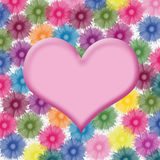 Heart shape on flower background Royalty Free Stock Photography