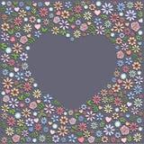 Heart Shape Flower Background Royalty Free Stock Image