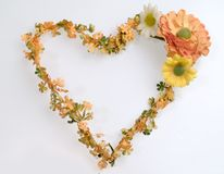 Heart shape flower wreath Royalty Free Stock Photography