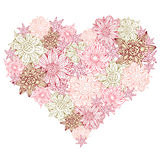 Heart shape with flowers Royalty Free Stock Photo
