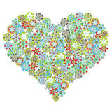 Heart shape with flowers Stock Image