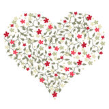 Heart shape with flowers Royalty Free Stock Images