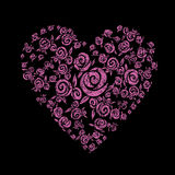 Heart shape from flowers Royalty Free Stock Photography