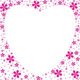 Heart shape flowers foliage Royalty Free Stock Photography