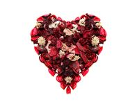 Heart shape flowers Stock Images