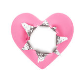 Heart Shape Foil Wrapper Stock Photography