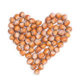 Heart shape with forest nuts Stock Photography