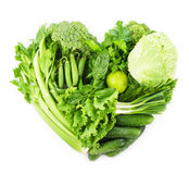Heart shape form by vegetables Royalty Free Stock Images