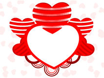 Heart shape frame with copy space Stock Image