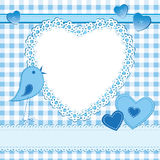 Heart shape frame in a scrapbook style Royalty Free Stock Image