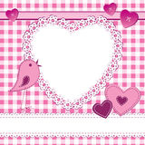 Heart shape frame in a scrapbook style Royalty Free Stock Images