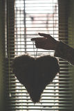 Heart shape. In front of the window Stock Photos