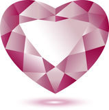 Heart Shape gem. Over white. EPS 10 royalty free illustration