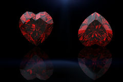 Heart shape gemstone. Collections of jewelry gems Stock Images