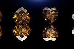 Heart shape gemstone. Collections of jewelry gems Royalty Free Stock Photo