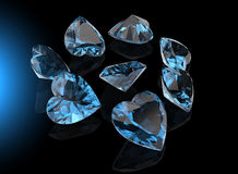 Heart shape gemstone. Collections of jewelry gems Royalty Free Stock Image