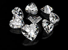 Heart shape gemstone. Collections of jewelry gems Royalty Free Stock Photography