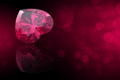 Heart shape gemstone. Collections of jewelry gems. Ruby Stock Photo