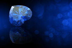 Heart shape gemstone. Collections of jewelry gems. Sapp Royalty Free Stock Photo