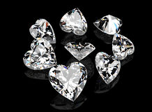 Heart shape gemstone.  jewelry Collections Royalty Free Stock Photography
