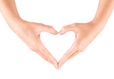 Heart shape gesture Royalty Free Stock Photography