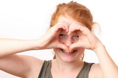 Heart shape gesture Royalty Free Stock Image