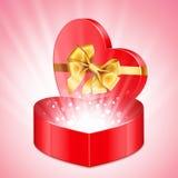 Heart Shape Gift Royalty Free Stock Photography