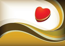 Heart shape gift box Royalty Free Stock Image