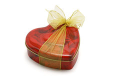 Heart shape gift box of cookies Stock Image