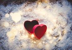 Heart shape gift box Stock Photo