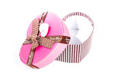 Heart shape gift box Royalty Free Stock Photo