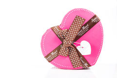 Heart shape gift box Royalty Free Stock Images