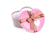 Heart shape gift box Stock Images
