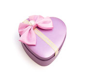 Heart shape gift box Stock Photo