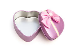 Heart shape gift box Royalty Free Stock Photography