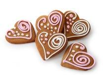 Heart shape ginger breads Stock Photos
